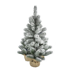 artplants Künstlicher Tannenbaum INNSBRUCK, Jutesack, beschneit, 45cm, Ø30cm