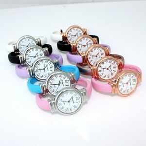 10pcs Mixed Colors Lots Lady Bracelet Women Bangle Quartz Wristwatches D13M