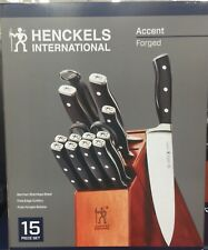 J.A. Henckels International 15-Piece Forged Accent Knife Block Set
