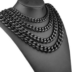 Hip Hop Black Rapper Necklace Stainless Steel Xxxtentacion Chain Mens Cuban Link