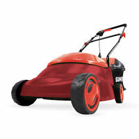 Sun Joe Electric Lawn Mower   14-Inch   13-Amp   Side Discharge Chute (Red)