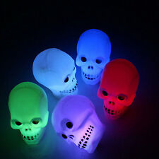 Halloween Colorful Flash Mini LED Skull Night Light Lamp Decoration Gift Favor