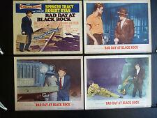 1955 BAD DAY AT BLACK ROCK - 8 LOBBY CARD SET - SPENCER TRACY + ROBERT RYAN