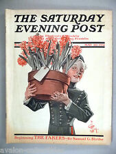Saturday Evening Post - May 30, 1914 ~~ J.C. Leyendecker, Mother's Day flowers
