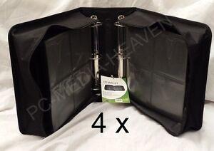 4 x 500 Sleeve CD DVD Disc Carry Case Holder Bag Wallet Storage Ring Binder