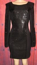 KARDASHIANS BEBE WOMEN'S SEQUINED SEXY BLACK DRESS SIZE M
