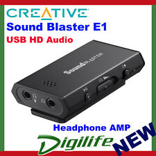 CREATIVE Sound Blaster E1 USB HD AUDIO and Headphone Amplifier AMP