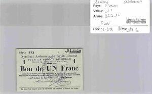 Bon des régions SEDAN - 1 franc 26/2/16 - N°01,940 - Pirot 08,283