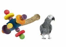 Large 35cm Chunky Parrot Spinning Wood Perch Cage Toy African Grey Amazon 4972