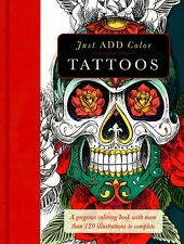 Barron's Just Add Color: Tattoo Adult Coloring Book (2015. Paperback)