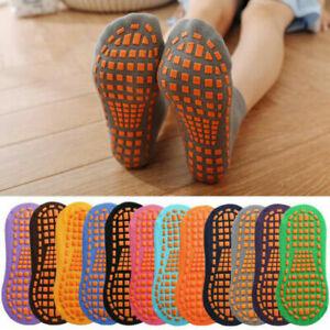 Women Kids Yoga Non Slip Skid Cotton Pilates Fitness Ballet Exercise Floor Socks