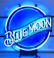 "New Blue Moon Beer Neon Light Sign 19""X15"" Hd Vivid Printing Technology"