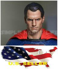 1/6 Henry Cavill Superman Head Sculpt  2.0 Clark Kent For Hot Toy phicen ❶❶USA❶❶