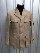 1930s Jacket Khaki WW2 US Navy Jacket USN CPO Officers Khaki Uniform pre WW2 USN