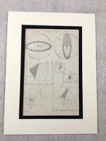 1880 Antico Stampa Sole Quadrante Diagramma Scientific Apparato Volta Orologio