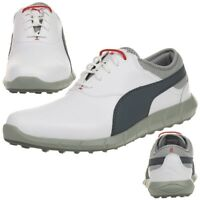 Puma Ignite Golf Spikeless Men's Golf Shoese Golf Leather White 188679 02