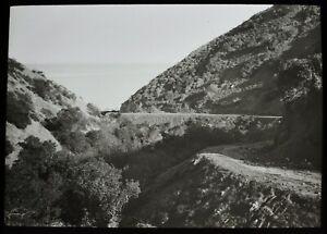 Magic Lantern Slide TOWARDS PEBBLE BEACH SANTA CATALINA CALIFORNIA C1908 PHOTO