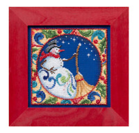 MILL HILL Counted Cross Stitch Beads Kit JIM SHORE Christmas Snowman