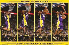 "NBA KOBE BRYANT POSTER ""LICENSED"" LA LAKERS ""BRAND NEW"" SLAM DUNK ""57cm X 86cm"""