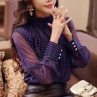 Blouse Women Long Sleeved Shirt Female Fashion Loose Turtle Neck Elegant Top New