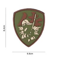 3D PVC morale patch Samurai Warrior shield airsoft softair green