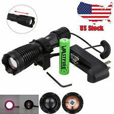 Night Vision Torch 10W IR 940nm LED ZOOM Infrared Light Scope Mount Flashlights