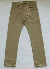 Levis 501 Jeans Mens Size 28x30 Beige Denim Button Fly Straight Leg