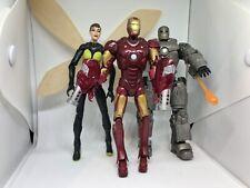 3 Marvel Action Figures: Iron Man Movie Mark I & III And Marvel Legends Wasp