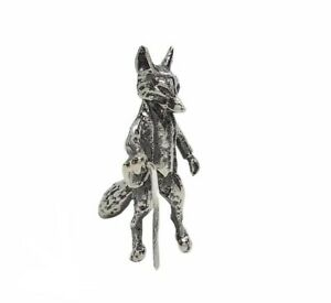 Solid Sterling Silver Mr Tod Fox Figure Hallmarked Beatrix Potter