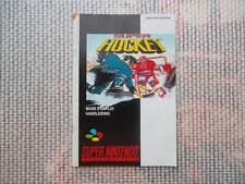 Notice Super Nintendo / Snes manuel Super Hockey PAL original Booklet *