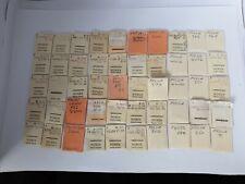 Job Lot Of 50 Vintage  Packs Of Pocket Watch Stems, Vintage Watch Parts