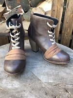 Womens Feud Ankle boots size 6 Ladies Brown Lace Up Ankle Boot