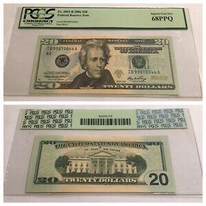 VINTAGE pcgs 68 PPQ $1 NEW YORK 2006 FEDERAL RESERVE NOTE TWENTY DOLLARS UNC