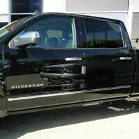 2014-2018 Chevy Silverado Extended Cab Body Side Molding Stainless Trim Overlay