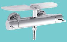 Hudson Reed per doccia mensola per A3500 Barra Valvola SHEL 003 Oro Brown e vetro