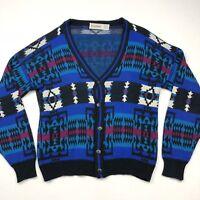 VTG McGregor Cosby Cardigan Sweater Biggie Coogi Southwest Nordic Isle • XL
