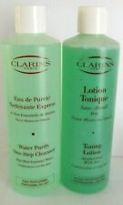 Clarins Toning Lotion with Iris Salon + Water Purity Cleanser 2x 500ml New