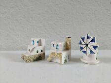 Vintage Miniature Handmade Ceramic Miniature Houses- Stamped Handmade Ceramik