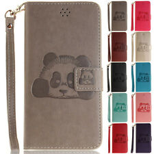 Panda Stand Wallet Leather Flip Case Cover For Samsung S6 S7 Edge Note 8 J5 G530