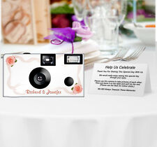 10 Roses & Ribbons Disposable Cameras-Personalize-weddi ng camera/anniversary