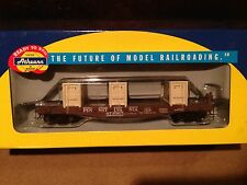 Athearn Ho Scale Train Car 40' Flat w Crates Pennsylvania #92170