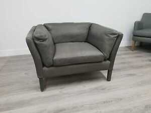 John Lewis & Partners Groucho Leather Armchair, Hand Tipped Pewter - RRP: £1,199