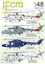 FCM Decals 1/72 WESTLAND SUPER LYNX Helicopter in International Service
