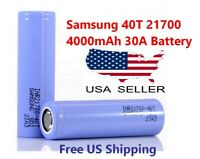 Samsung INR 21700-40T Rechargeable 30a High Drain Battery 4000mAh Flat Top NEW *