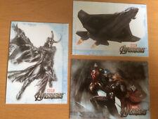 3 Original MARVEL AVENGERS Sammelkarten Concept Series Loki, Thor, Iron Man rare