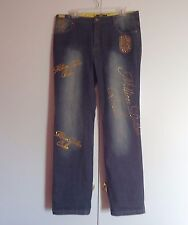 Platinum Plush Gold Studded Million Dollar Babe Women Jeans 15