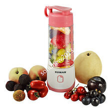 New USB KUWAN Portable Rechargeable Electric Fruit Juicer Cup Blender 400ml