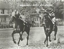 SEABISCUIT BEATS WAR ADMIRAL 8X10 PHOTO HORSE RACING PICTURE JOCKEY