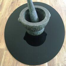 Oval Acrylic Worktop Saver - Black
