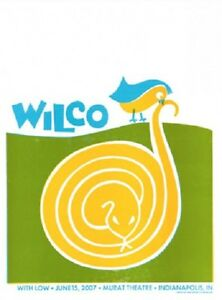 Wilco Gig Poster, Indianapolis 2007 (Hand Pulled Letterpress) 18 x 24' (Rare)